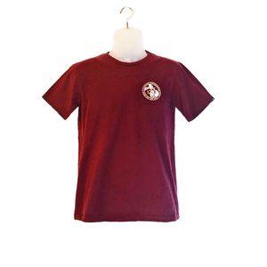 VANS Maroon Off The Wall T-Shirt